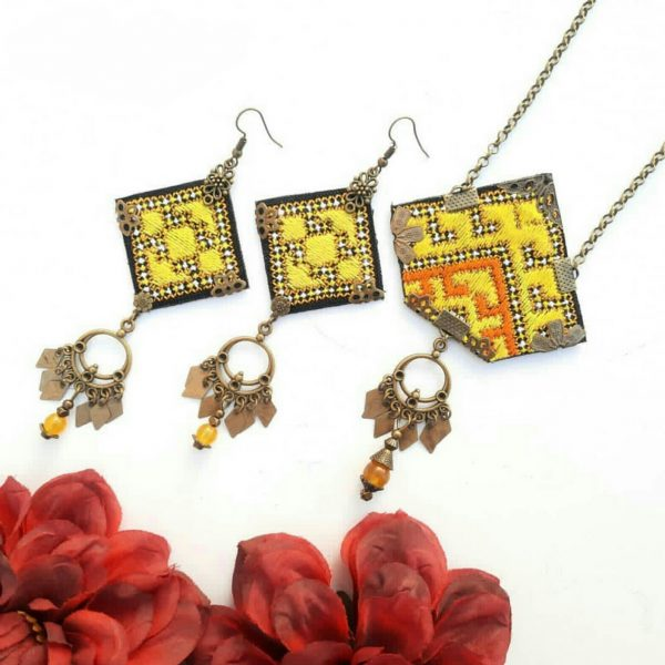 Baluchi necklace and earrings C1(The best-selling handicrafts in 2020)